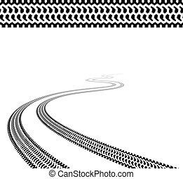 Rastreo de los neumáticos terrestres