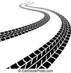 Rastreo del vector de los neumáticos