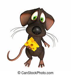 Ratón, atrapado con queso