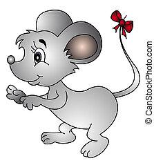 Ratón con arco en la cola