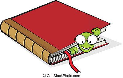 Ratón de biblioteca y libro