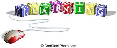 Ratón y concepto de aprendizaje bloquean