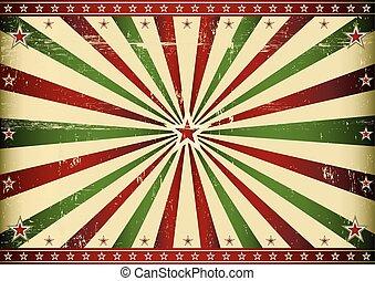 Rayo de sol rojo y verde