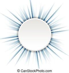 Rayos azules y círculo blanco