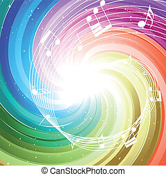 Rayos de colores festivos