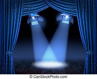 Rayos de luz azul premiere