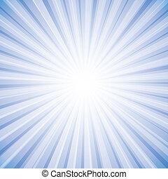 Rayos de sol en blanco claro en el cielo en vector de fondo gráfico