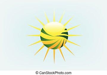 Rayos de sol logotipo de agricultura