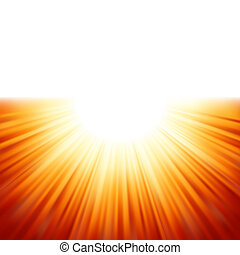 rayos, eps, luz del sol, tenplate., 8, sunburst