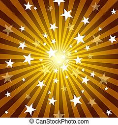 rayos sol, estrellas