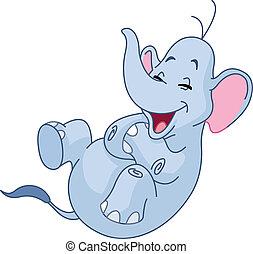 reír, elefante