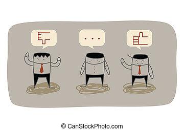 reacción, empresa / negocio, mercadotecnia, pregunta, investigación, hombre