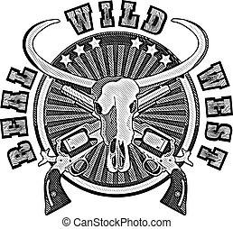 Real salvaje oeste grabado