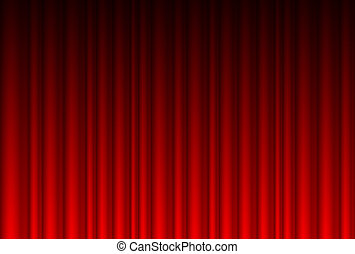 realista, cortina roja