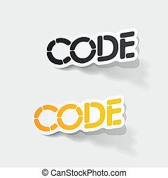 realista, element:, código, diseño