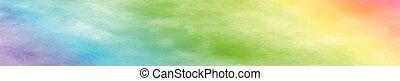 realista, panorámico, textura, acuarela, fondo blanco, arco irirs