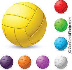 realiste, voleibol, multicolor