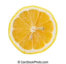 Rebanada de limón, salvada con el camino de recorte