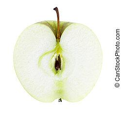 Rebanada de manzana fresca