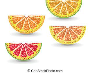 Rebanada de naranja