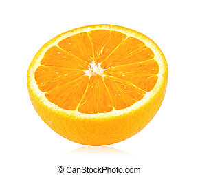 Rebanada de naranja madura