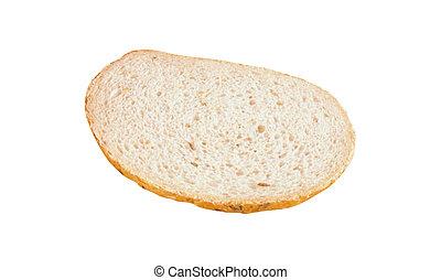 Rebanada de pan aislada