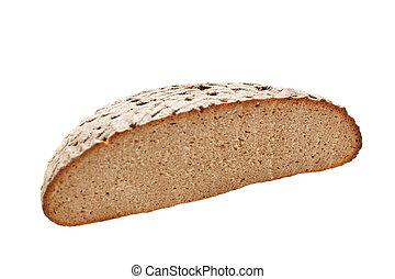 Rebanada de pan fresca aislada