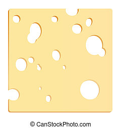 Rebanada de queso cuadrada