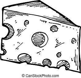 Rebanada de queso Sketchy