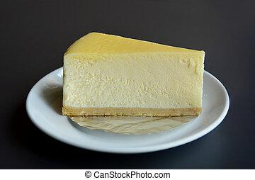 Rebanada de tarta de queso