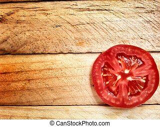 Rebanada de tomate.