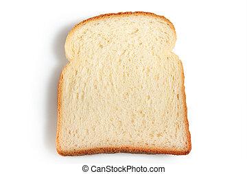 rebanada, pan blanco, plano de fondo