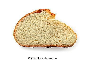 rebanada, plano de fondo, pan blanco