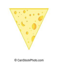 rebanada, queso, triángulo