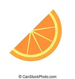 rebanada, vector, naranja
