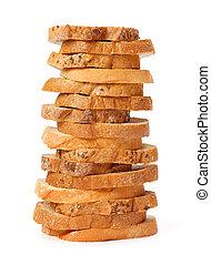 Rebanadas de pan apiladas