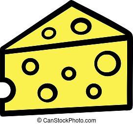 Rebanadas de queso enteras