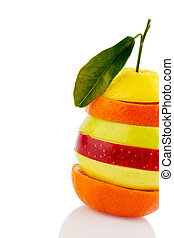 Rebanadas de Verschiedne de frutas