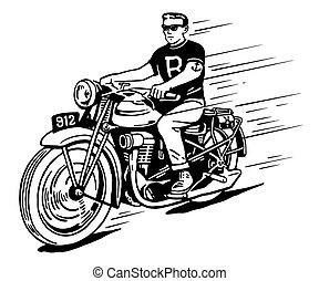 Rebel en moto antigua