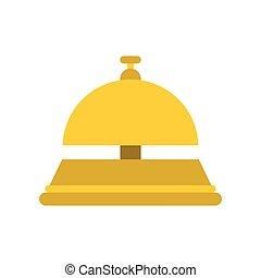 Recepción de campana icono plano