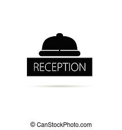Recepción de la campana de icono ilustración vectorial