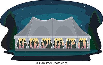 Recepción de la tienda de bodas