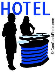 Recepción en el hotel