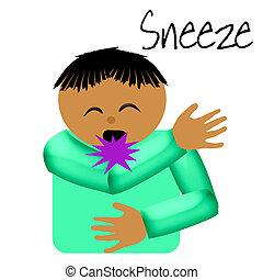 receptor, estornudo