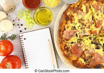 receta, pizza