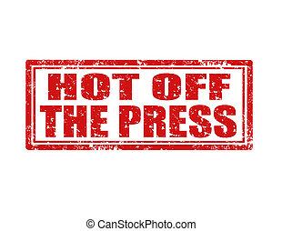 Recién salida del sello de prensa
