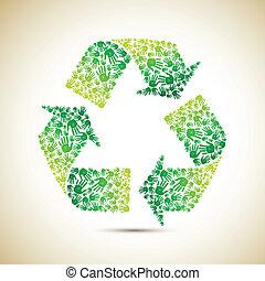 Recicla con mano humana