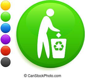 Recicla imagen en el botón de Internet