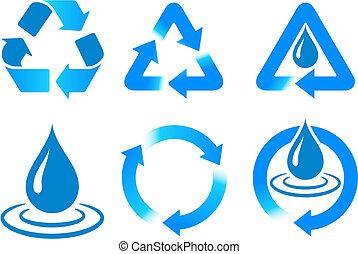 reciclaje, azul