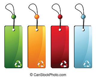 Reciclar etiquetas de precio